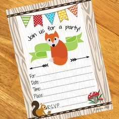Fox Birthday Invitations (8)