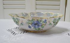 Vintage Fenix Porcelain Bowl Hand Made Blue Green Iridescent Lustreware Floral Kislovodsk Russia Panchosporch More Than One, Vintage China, Iridescent, Decorative Bowls, I Shop, Blue Green, Russia, Floral Design, Great Gifts