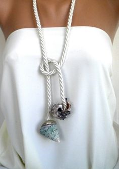 Ocean Waves handmade Sea Shell Necklace. via Etsy.