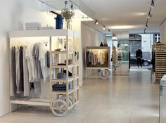 Clever Mobile Carts Remake a Chic Boutique interior design ideas ideas