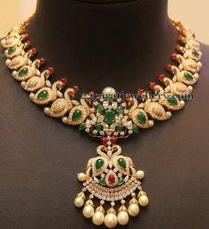 Jewellery Designs: Trendy Mango Necklace By Kirtilals