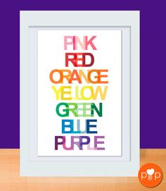 This would be cute in your rainbow themed classroom.