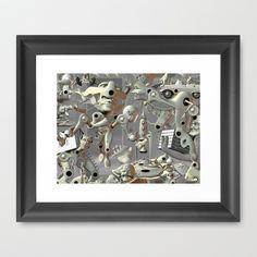 the weight of it all Framed Art Print by Matt Hansel (stealthman) - $40.00