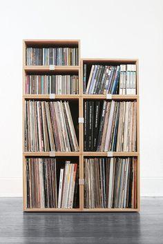stocubo Regal für Schallplatten, CDs und DVDs oder Blu-Rayca. 71 cm x 107 cm …