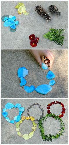 Olympic themed nature art for kids -- craft the Olympic Rings!  What a great outdoor activity this summer.