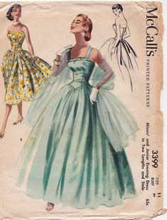 1948 Vintage Vogue Nähen Muster B34 Kleid 1611