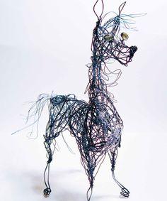 Equestrian Decor, Horse Equestrian, Wire Sculpture, Equestrian Figurine, Horse…