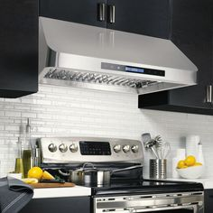 Valore Cascade 30 Range Hood Contemporary Under Cabinet Design
