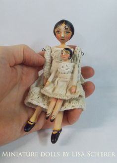 Miniature dolls by Lisa Scherer Beautiful Living