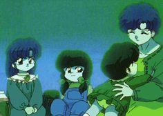Akane   Ranma-Chan   Shampoo Ranma-Kun  Mousse   Ryouga   Kasumi   Nabiki    Soun y Genma   Kodasi y Kuno   Azusa y Mikado   Dr. Tofú   Cologne    Happosai