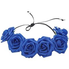 Floral Fall Bon Bon Artificial Foam Rose Flower Crown Wedding Hair... ($8.49) ❤ liked on Polyvore featuring accessories, hair accessories, head wrap headbands, headband hair accessories, faux flower garland, artificial flower garlands and flower garland