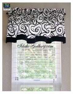 Black and White Ironworks Window Valance Kitchen by Idaho Gallery