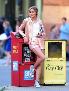THE OLIVIA PALERMO LOOKBOOK: Olivia Palermo at a photoshoot in New York City.