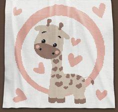 Crochet Pattern   Baby Blanket / Afghan - Giraffe