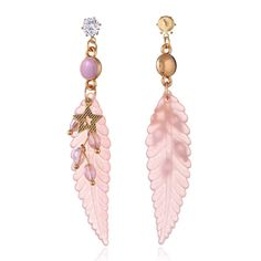 Fashion Feather Earrings Star Rhinestones Acrylic Dangle Earrings Gift for Girls Women online - NewChic Jewelry Sets, Jewelry Necklaces, Women Jewelry, Feather Earrings, Dangle Earrings, One Piece Bikini, Goods And Service Tax, Grenadines, Gifts For Girls
