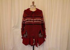 Plus size upcycled sweater cardigan  Altered moda by MilaLem