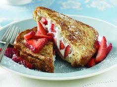 Strawberry Ricotta Stuffed French Toast