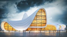 Il centro culturale Heydar Aliyev, progettato dall'archistar britannico-iracheno Zaha Hadid, è un complesso culturale situato a Baku, in Azerbaigian, prende il nome dall'ex Presidente dell'Azerbaigian, Heydar Aliyev.