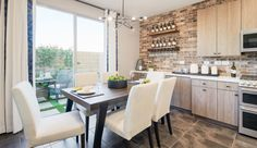 Evolve - Pardee Homes Kitchen Dining, Dining Table, Dining Rooms, Pardee Homes, Common Area, Neutral Colors, Planer, Building A House, Home And Family