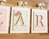 Custom Nursery Letters from Lovey Letters by Leah  Check us out on Etsy https://www.etsy.com/shop/LoveyLettersbyLeah?ref=hdr_shop_menu