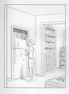 New York Drawings #2. Any early concept for Adrian Tomine's first New Yorker cover/an accurate illustration of my life. (via My First New Yorker Cover : The Thought Fox)