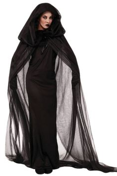 Black Mysterious Womens Halloween Witch Costume