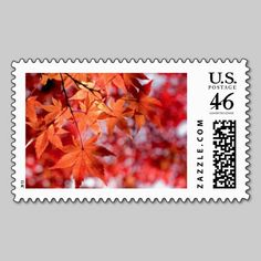 Autumn Leaves Postage Stamps