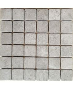 Silver Grey Tumbled Mosaic 50x50mm chip