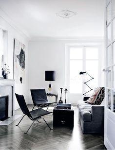 grey herringbone wood floor