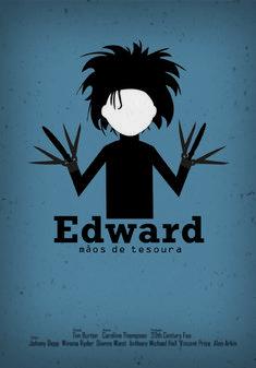 Edward Scissorhands - poster by Fernanda Garcia Minimal Movie Posters, Minimal Poster, Cinema Posters, Cool Posters, Film Posters, Disney Movie Posters, Caroline Garcia, Series Poster, Johnny Depp And Winona