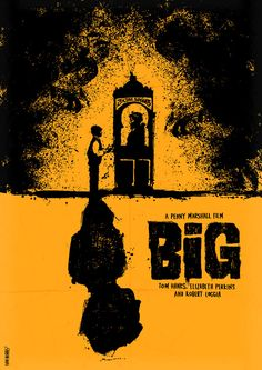 An alternative movie poster for the film Big, created by Daniel Norris, featured on AMP Best Movie Posters, Classic Movie Posters, Minimal Movie Posters, Movie Poster Art, Cool Posters, Classic Movies, Poster Poster, Creative Posters, Film Big