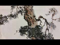 Korean Brush Painting - (10) Pine Trees (소현의 소나무그리기) - YouTube