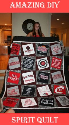 Learn how to create these amazing School Spirit Quilts.