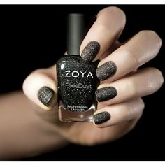 Check Out Zoya's New Invention Matte Glitter Nail Polish (So Cool ❤ liked on Polyvore