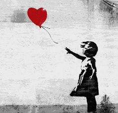 Girl with a Balloon I Canvas Print
