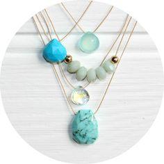 Turquoise range | navybay.co.uk  #gemstone #turquoise #beachjewellery #beach #goldfilled #colour
