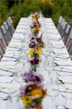 Lauku puķes galdam!