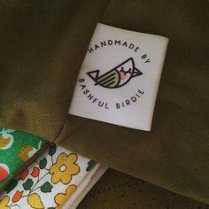 custom #satinlabel folded and sewn in by @bashfulbirdiehandmade