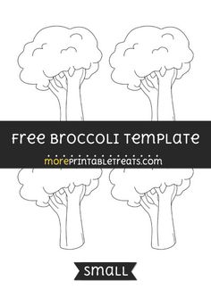 Free Broccoli Template - Small