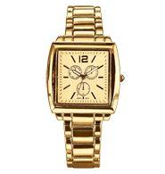 Goldtone Square-Faced Bracelet Watch