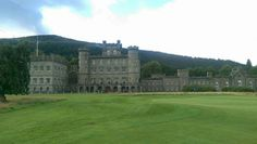 Taymouth Castle is situated just north-east of the village of Kenmore, Perth and Kinross in the Highlands of Scotland. It stands on the site of the much older Balloch Castle (built in 1550), which was demolished to be rebuilt on a much larger scale in the early 19th century by the Campbells of Breadalbane. A tower house on the site, known as Balloch Castle, was built around 1550 by Sir Colin Campbell of Glenorchy. Wikipedia