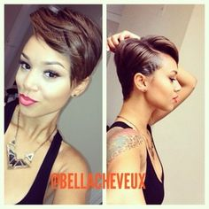 Super cute short hair style-- I remember my hair like this. Almost miss it