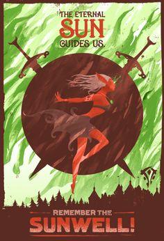 World of Warcraft Propaganda Poster: The Eternal Sun Guides Us  - Laz Marquez