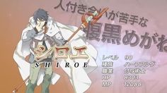log horizon - shiroe. level 90 enchanter, which is apparently a status specialist for buffs and debuffs with sensor abilities.