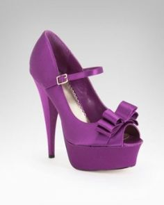 Purple ... with bows and straps!