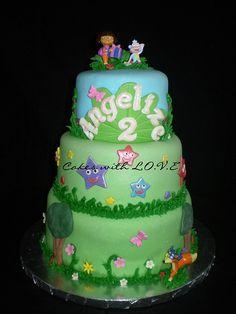 Inspiration for a Dora Cake and Cupcakes , Novelty Cakes. www.sweetsecretsdubai.com