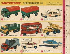 Matchbox Collector's Catalogue, 1968, by Wishbook, via Flickr.  I still have all of these vehicles.