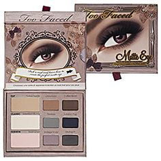 Sephora: Too Faced : Matte Eye Shadow Collection   : eyeshadow-palettes // all matte shadows and no glitter