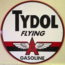 "12/"" FLYING A TYDOL GASOLINE OIL VINYL DECAL FOR MAKING SIGN FLYI-4"