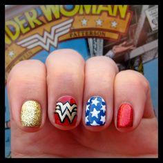 Dahlia Nails - Wonderwoman